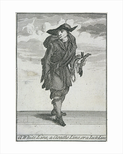 A White Line, a Cloaths Line, or a Jack Line, Cries of London, (c1688?) by Anonymous
