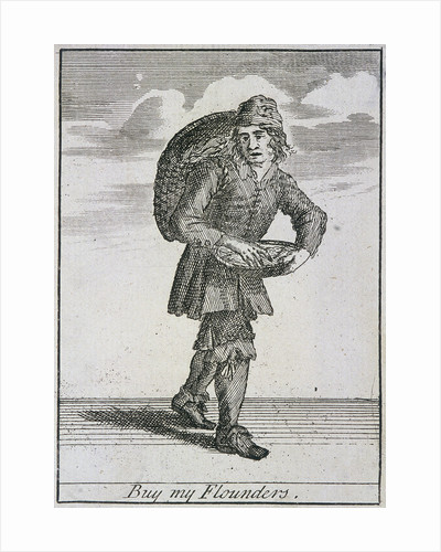 Buy my Flounders, Cries of London, (c1688?) by Anonymous