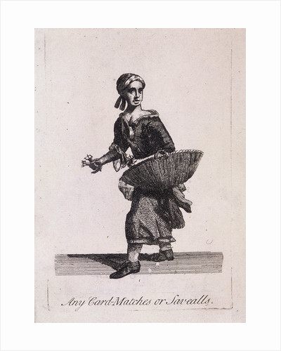 Any Card Matches or Savealls, Cries of London by Samuel Stanesby