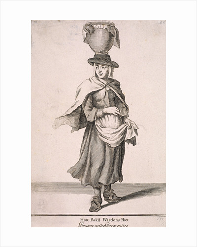 Hot Bak'd Wardens Hot, Cries of London, (c1688?) by Anonymous