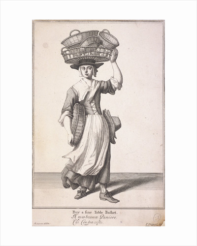 Buy a fine Table Basket, Cries of London, (1688?) by Anonymous