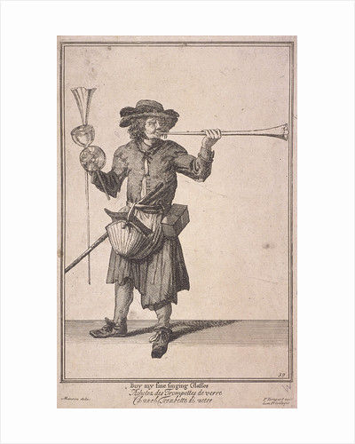 Buy my fine singing Glasses, Cries of London, (1688?) by Anonymous