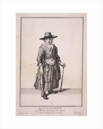 Four for Six pence Mackrell, Cries of London, (1688?) by Anonymous