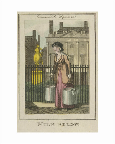 Milk Below!, Cries of London by Luigi Schiavonetti