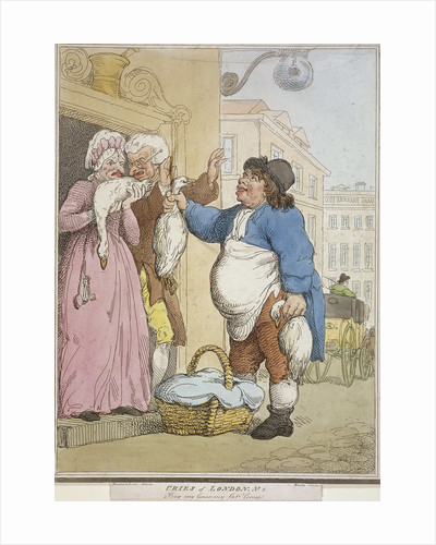 Buy my Goose, my fat Goose, plate II of Cries of London by William Hogarth