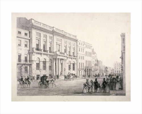 View of Oxford and Cambridge University Club, in Pall Mall, Westminster, London by W Wallis