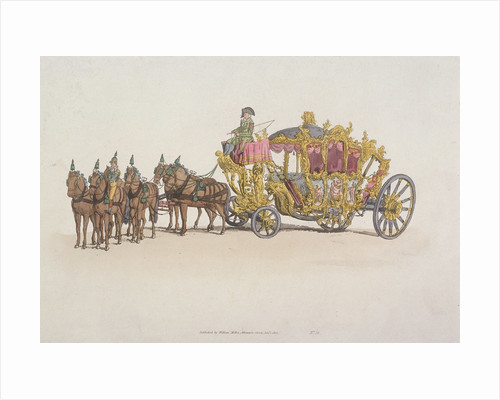 Lord Mayor's Coach pulled by a team of six horses by Anonymous