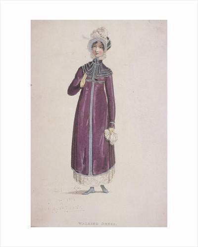 A woman in a walking dress by W Read