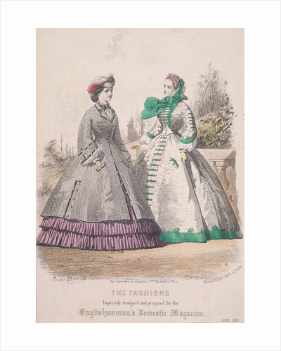 Two women model the latest fashions by Anonymous