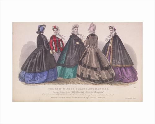 Five women wearing the latest winter fashions by James Elliott