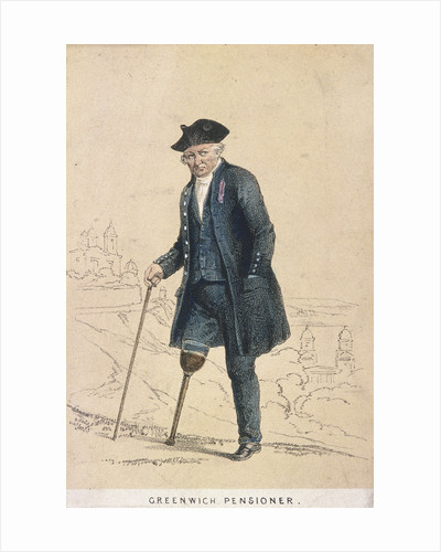 A Greenwich pensioner with one leg by Day & Son