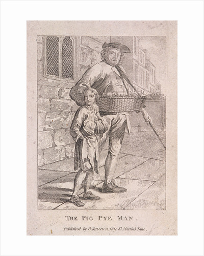 Pig pie seller by Anonymous