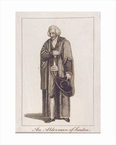 An Alderman of the City of London in civic costume by Anonymous
