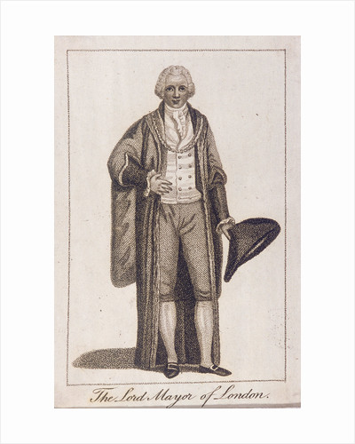 Lord Mayor of London in civic costume by Anonymous