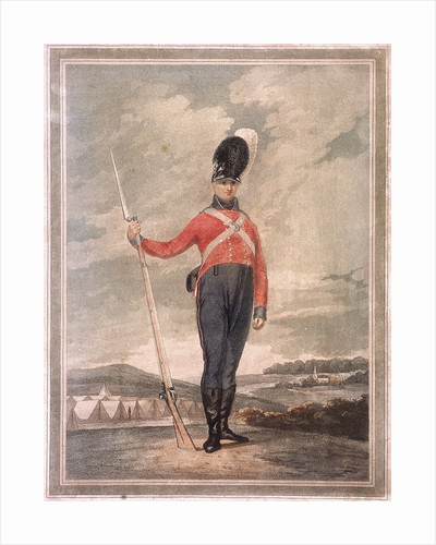 Military figure wearing an unidentified volunteer uniform by Anonymous