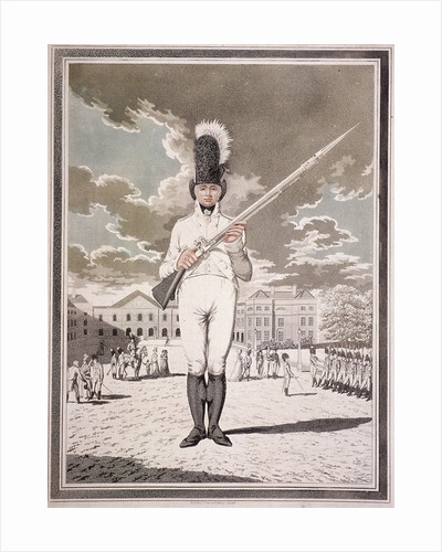 Military figure in the uniform of the Bloomsbury and Inns of Court Association by Woodbury & Page