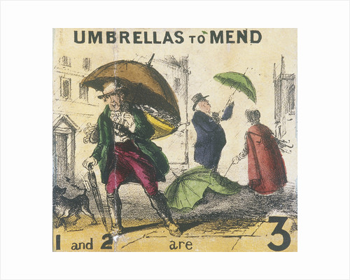 Umbrellas to Mend, Cries of London by TH Jones