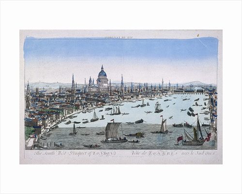 Bird's-eye view of London from Somerset Gardens, in the City of Westminster by Anonymous