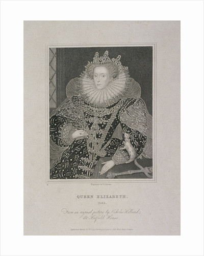 Queen Elizabeth I with an ermine by TA Dean