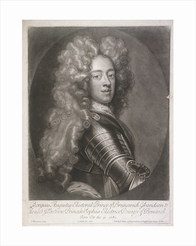 Oval portrait of George II, King of Great Britain by W&D Downey
