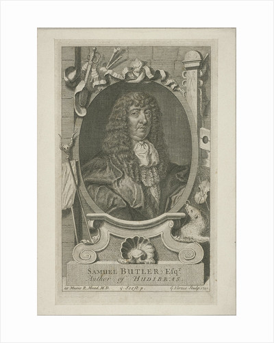 Samuel Butler in wig and robes by Anonymous