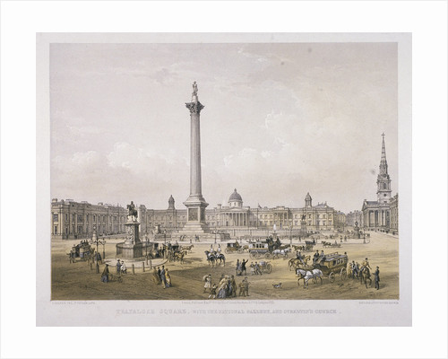 Trafalgar Square, Westminster, London by Unknown