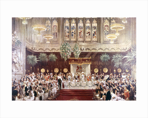 View of the Coronation luncheon for King George V and Queen Mary consort, London by Anonymous