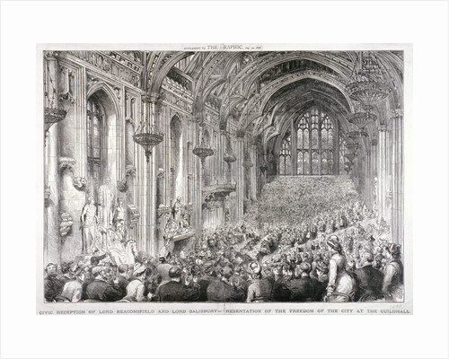 Civic reception of Lord Beaconsfield and Lord Salisbury at the Guildhall, London by Edward Montagu