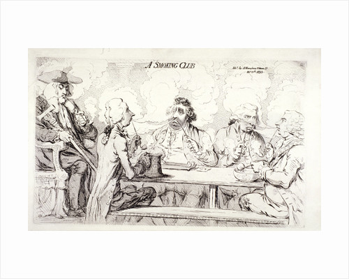 A smoking club, House of Commons, London by Anonymous