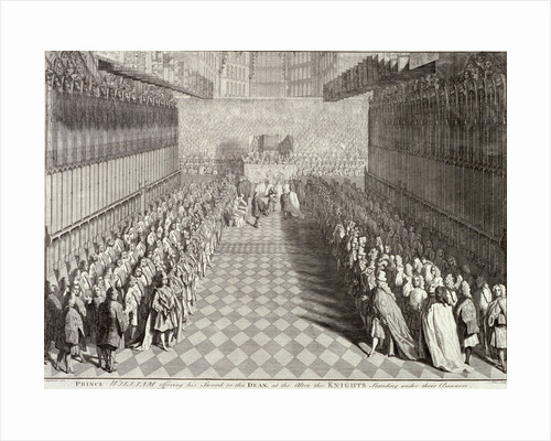 Coronation of William III in Westminster Abbey, London, 1689 by John Pine