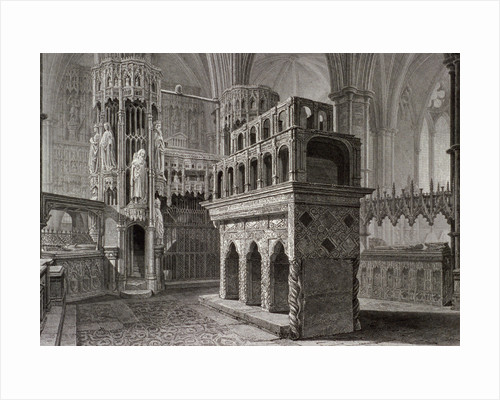 Edward the Confessor's mausoleum, in the king's chapel, Westminster Abbey, London by Anonymous