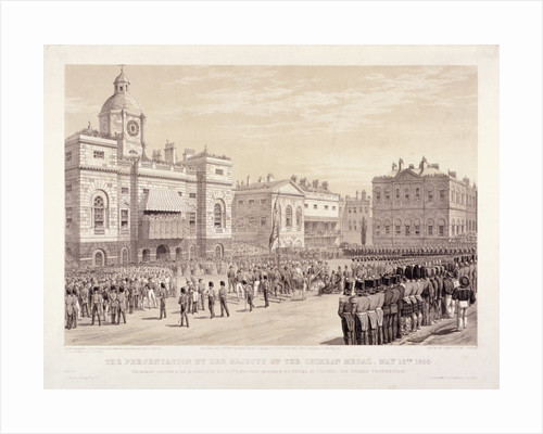 Presentation of the Crimean Medal by Queen Victoria to Colonel Sir Thomas Trowbridge, May 18th 1855 by Thomas Picken