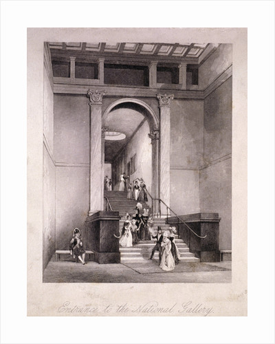 Entrance to the National Gallery in Trafalgar Square, Westminster, London by Anonymous