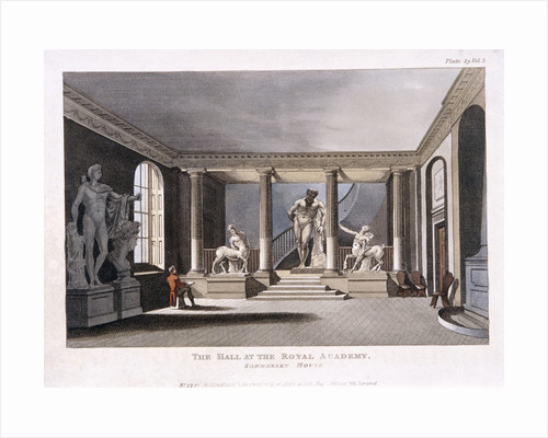 Royal Academy of Arts in the Somerset House, Westminster, London by Richard Earlom