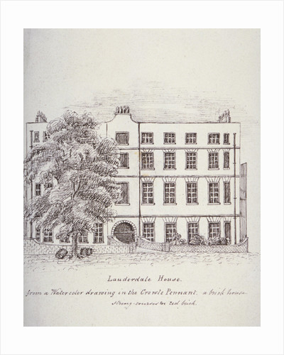 Lauderdale House, Aldersgate Street, London, c1800(?) by Mary Anne Hedger