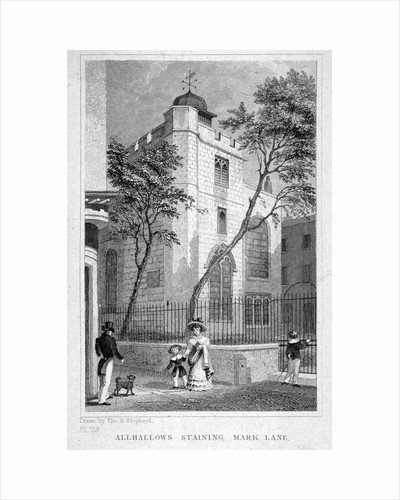 Church of All Hallows Staining, London by Thomas Hosmer Shepherd