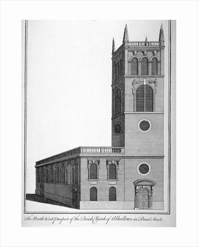All Hallows Church, Bread Street, London by Benjamin Cole
