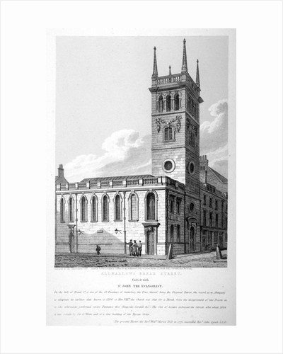 All Hallows Church, Bread Street, London by Joseph Skelton