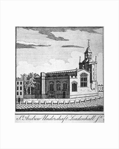 Church of St Andrew Undershaft, Leadenhall Street, London by Anonymous