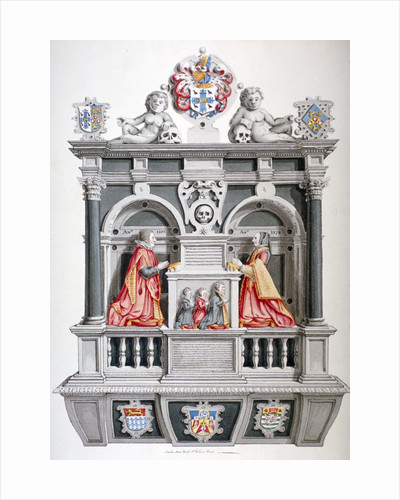Monument in the Church of St Andrew Undershaft, Leadenhall Street, London, c1810 by Anonymous