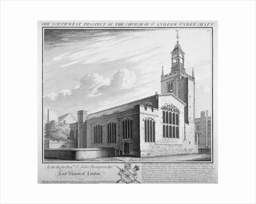 St Andrew Undershaft, City of London by William Henry Toms