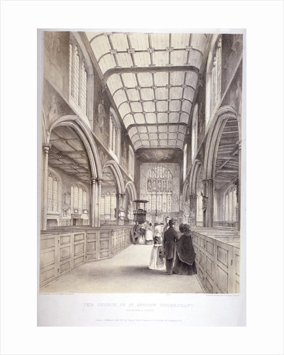 Interior view of St Andrew Undershaft, City of London by Anonymous