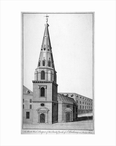 North west view of St Antholin. City of London by Benjamin Cole