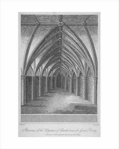 Remains of the cloisters of St Bartholomew's Priory, Smithfield, City of London by Anonymous