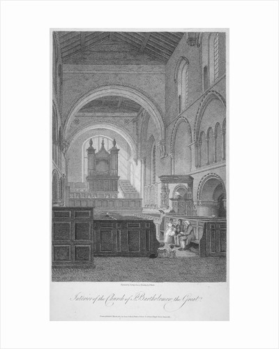 Interior view of the Church of St Bartholomew-the-Great, Smithfield, City of London by J Greig