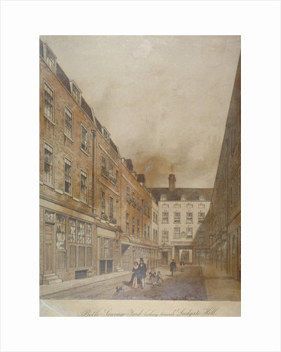 Belle Sauvage Yard, looking towards Ludgate Hill, City of London by Thomas Hosmer Shepherd