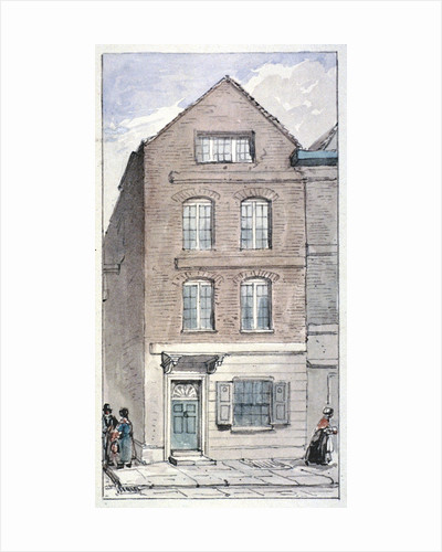 View of no 7 Blackhorse Alley, Fleet Street, City of London by James Findlay