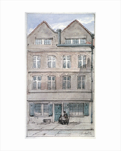 View of no 2 Blackhorse Alley, Fleet Street, City of London by James Findlay