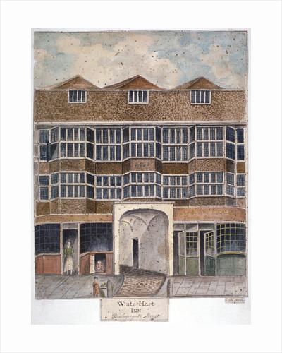 The White Hart Inn at no 119 White Hart Court, Bishopsgate, City of London by J Williams