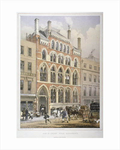 Crosby Hall at no 95 Bishopsgate, City of London by Vincent Brooks